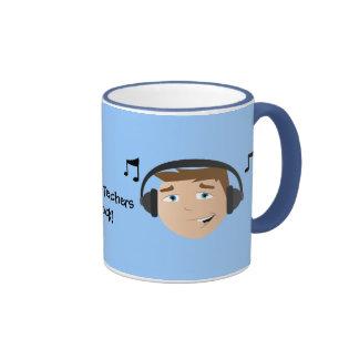 Music Teachers Rock! Ringer Mug