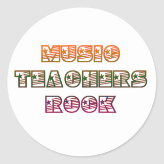 MUSIC TEACHERS ROCK ROUND STICKERS