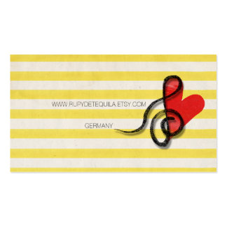 Music teraphy pack of standard business cards