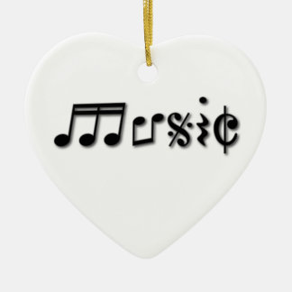 Music Text Design Christmas Ornament