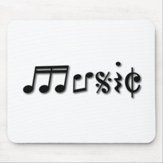 Music Text Design Mouse Pad
