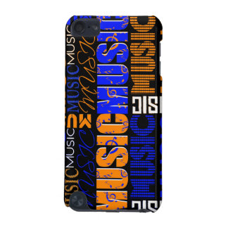 music text orange blue black graphic iPod touch (5th generation) case