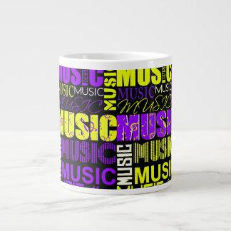 music text purple yellow black graphic.jpg jumbo mug