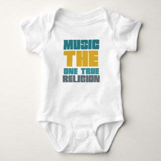 Music - the one true religion baby bodysuit