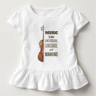 Music The Universal Language   Ruffle Tee