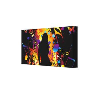 music theme canvas canvas print