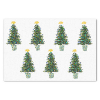 Music Theme Christmas Trees Tissue Paper