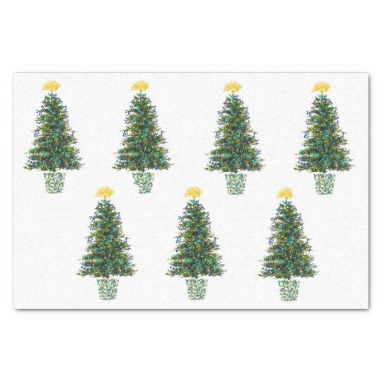Music Theme Christmas Trees Tissue Paper