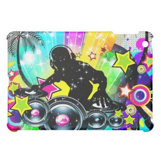 Music Theme DJ Spinning Records Abstract Design iPad Mini Case