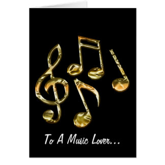 MUSIC Theme Gift Collection Greeting Card
