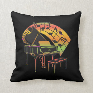 Music Theme Illustration-Abstract Piano Cushion
