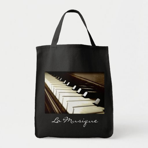 MUSIC Theme Piano-player Gift Tote Tote Bags