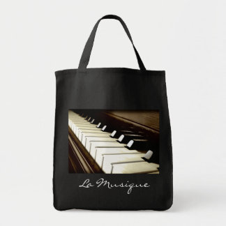 MUSIC Theme Piano-player Gift Tote Grocery Tote Bag