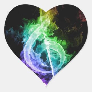 music theme heart stickers