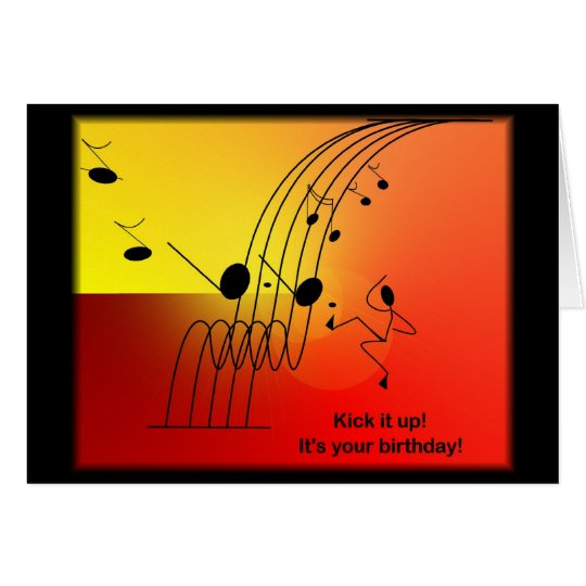 Music themed birthday greeting cards