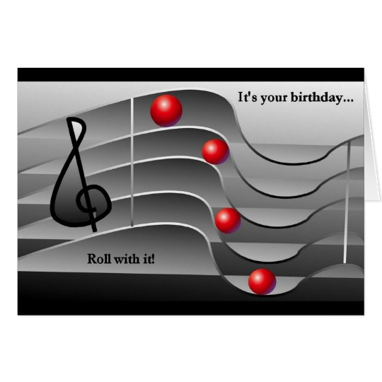 Music Themed Birthday Greetings Card
