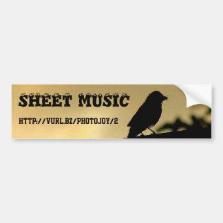 Music Themed Bumper Sticker
