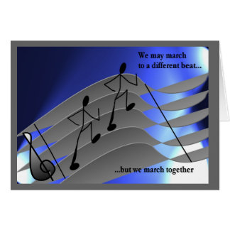 Music themed greeting cards