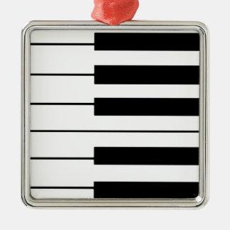 music-themed piano keys christmas ornament