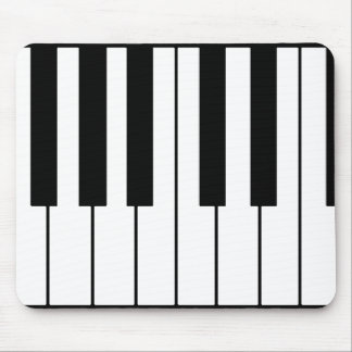 music-themed piano keys mouse pad
