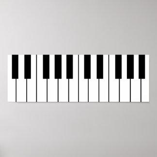 music-themed piano keys poster