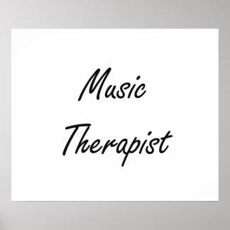 Music Therapist Artistic Job Design Poster