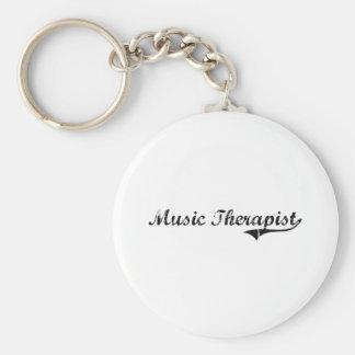 Music Therapist Professional Job Key Chain