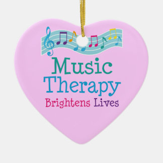 Music Therapy Brightens Lives Christmas Ornament