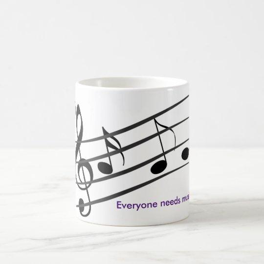 music therepy coffee mug