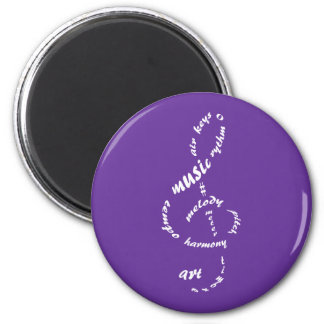 music to my ears 6 cm round magnet