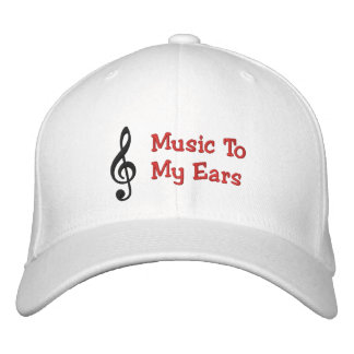 Music To My Ears Clef Note Embroidered Cap