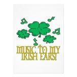 Music To My Irish Ears Custom Invite