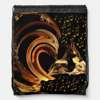 Music to my soul_ drawstring bag