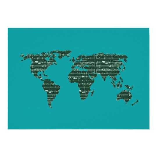 music to the world ~ maps poster