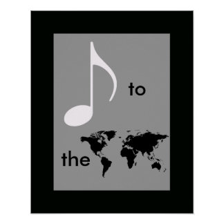 music to the world poster