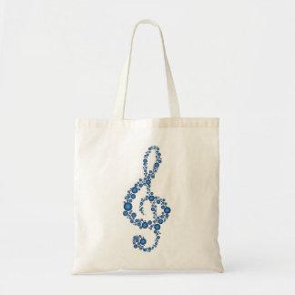 Music Treble Clef Blue Dots Bag