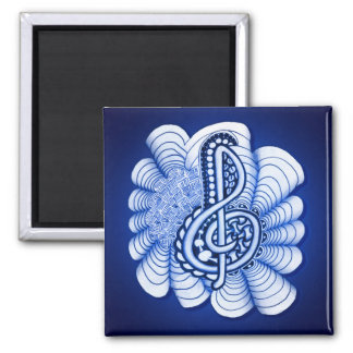 Music Treble Clef Decorative and Personalizable Magnets