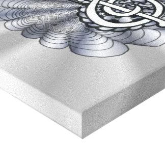 Music Treble Clef Silver Canvas Print
