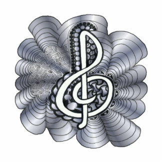 Music Treble Clef Silver Photo Cut Out