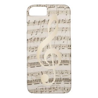 Music Treble Clef Vintage Musical iPhone 8/7 Case