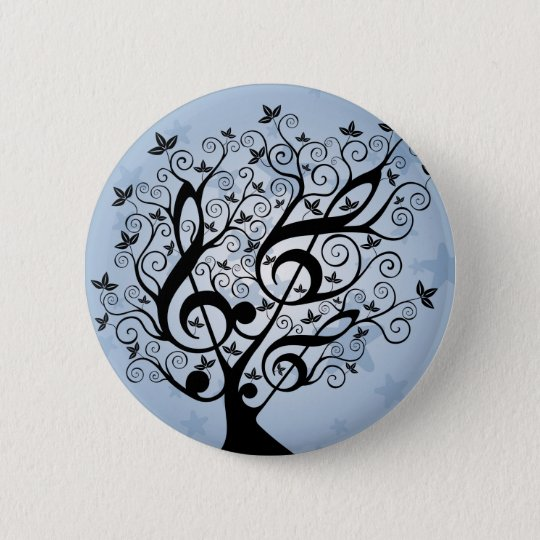 Music Tree 6 Cm Round Badge