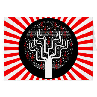 music tree greeting card