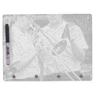 Music - Trombone - A helping hand Dry Erase Board With Key Ring Holder