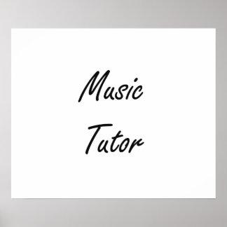 Music Tutor Artistic Job Design Poster