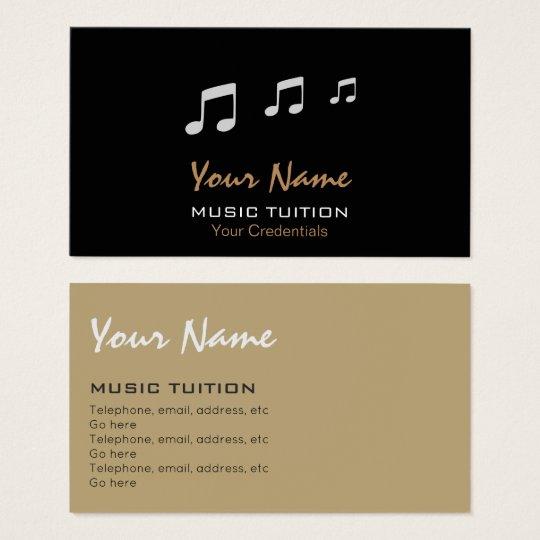 Music Tutor Business Cards