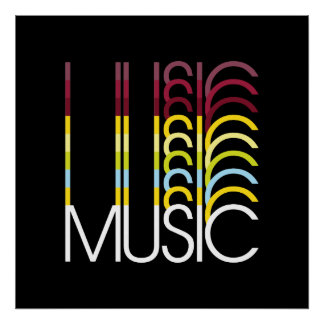Music - Typography Poster