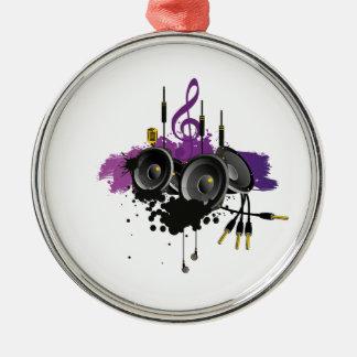 Music Vector Design Silver-Colored Round Decoration