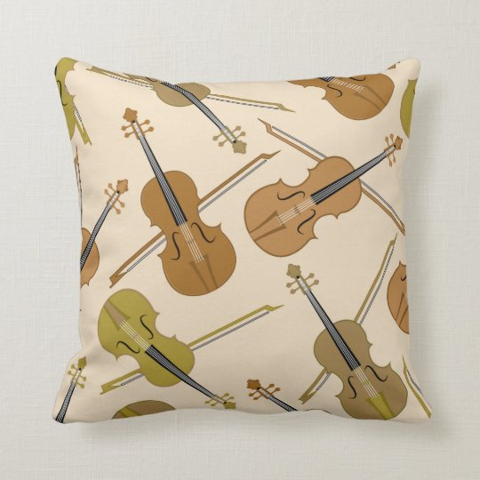 Music Violin Instruments Decorative Throw Pillow