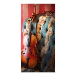 Music - Violin - Musical Elegance Custom Photo Card
