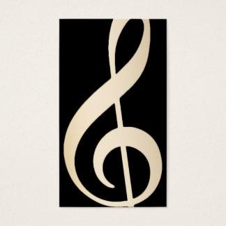 Music Vocal Teacher Modern Black & Gold Musical